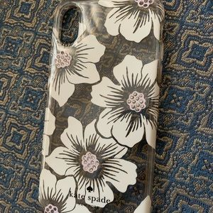 White Floral Kate Spade iPhone XS Case